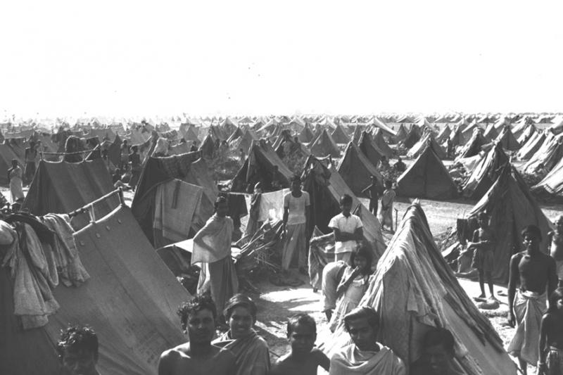 Refugee camp in India.
