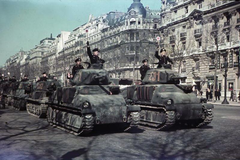 German Panzers in Paris, 1941.