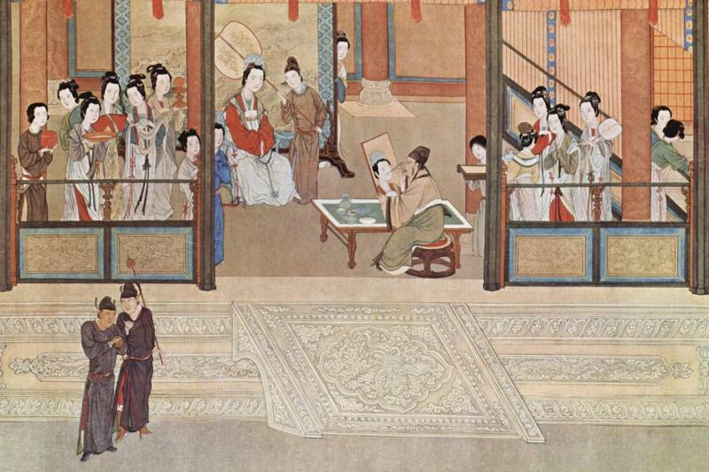 Spring morning in a Han palace, by Qiu Ying (1494–1552).