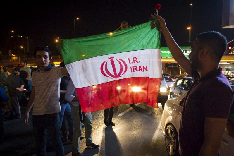 Iranians celebrate on the streets following a nuclear deal with major powers, in Tehran July 14, 2015.