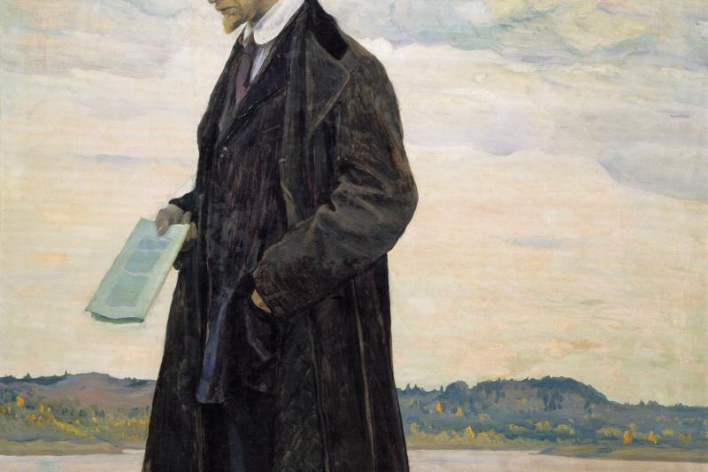 Portrait of Ivan Ilyin by Mikhail Nesterov, 1921. Russia Museum