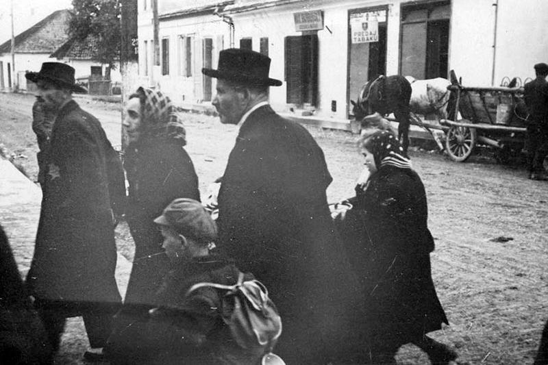 A Jewish family prior to being deported from Slovakia, 1942.