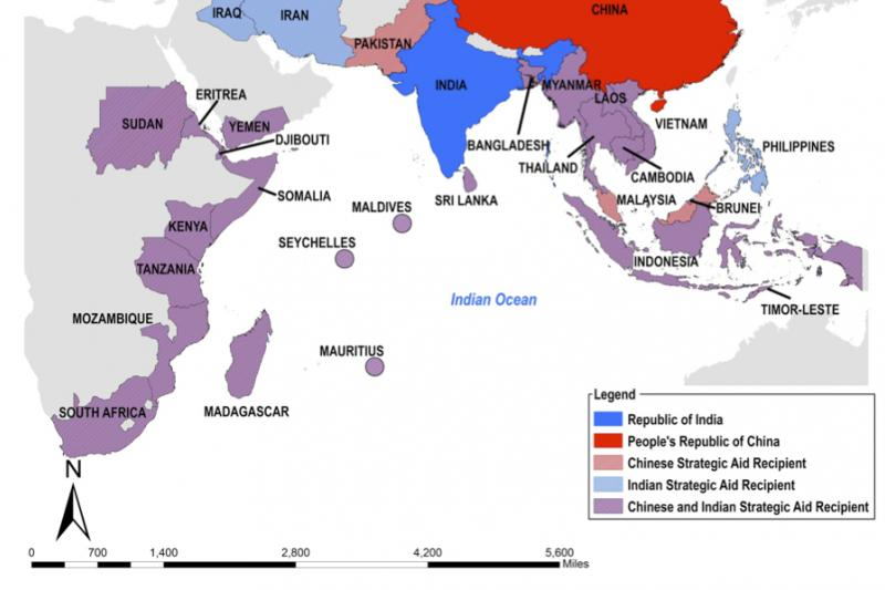 Indian and Chinese strategic foreign aid to Indian Ocean Rim countries.