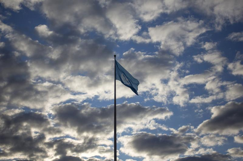 The United Nations flag is seen outside its headquarters during the United Nations' 68th session of the General Assembly in New York September 27, 2013.
