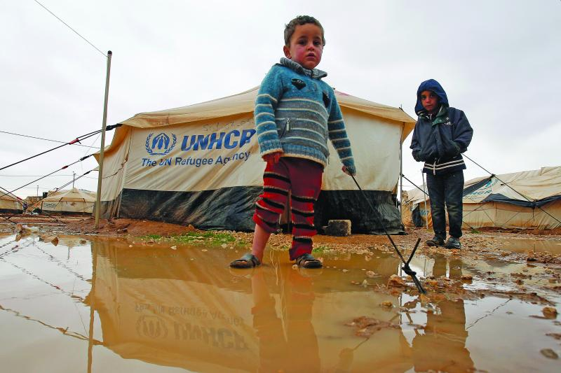 Syrians in Jordan's Zaatari refugee camp, January 2013. Syrian refugees are languishing without autonomy and opportunity in Jordan, Lebanon, and Turkey.
