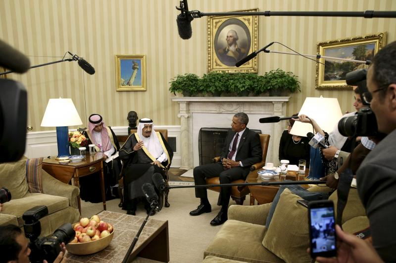 Saudi King Salman and Obama in Washington, D.C.