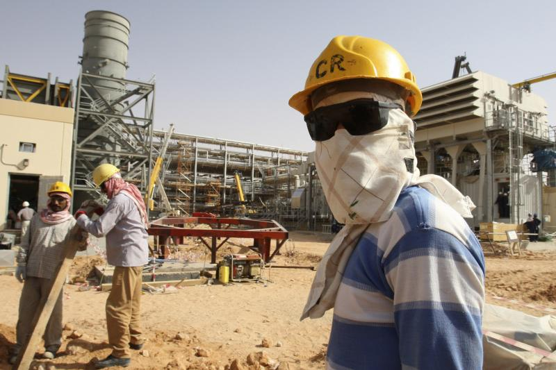 A worker at the Khurais oilfield, about 100 miles from Riyadh, June 2008. Arab governments have long recognized the need to shift away from an excessive dependence on hydrocarbons, but they have had little success in doing so.