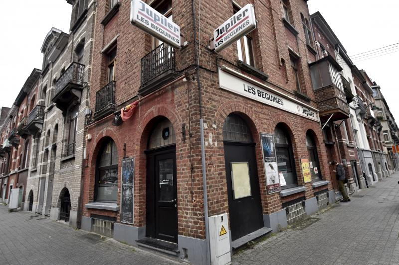 A view shows the bar Les Beguines, in Molenbeek, November 16, 2015. Documents show that the bar was run by the French Abdeslam brothers, one of whom blew himself up in Paris on Friday night.