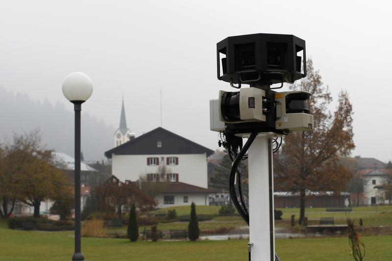 Google Street View cameras are pictured in Oberstaufen, November 2, 2010.