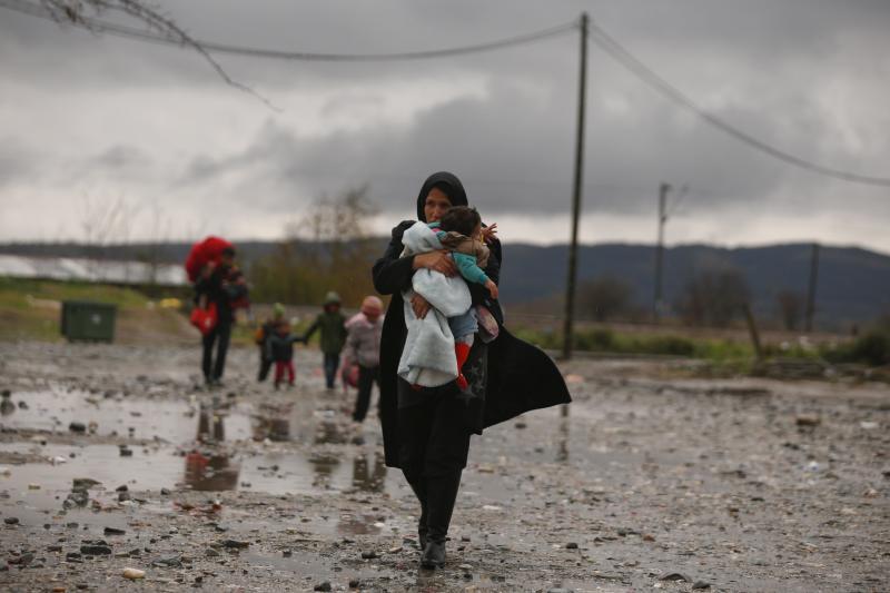Migrants in Macedonia, November 27, 2015.