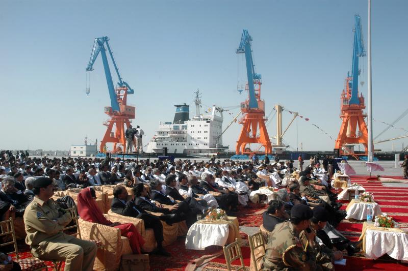 The opening of the Gwadar deep-sea port on the Arabian Sea.