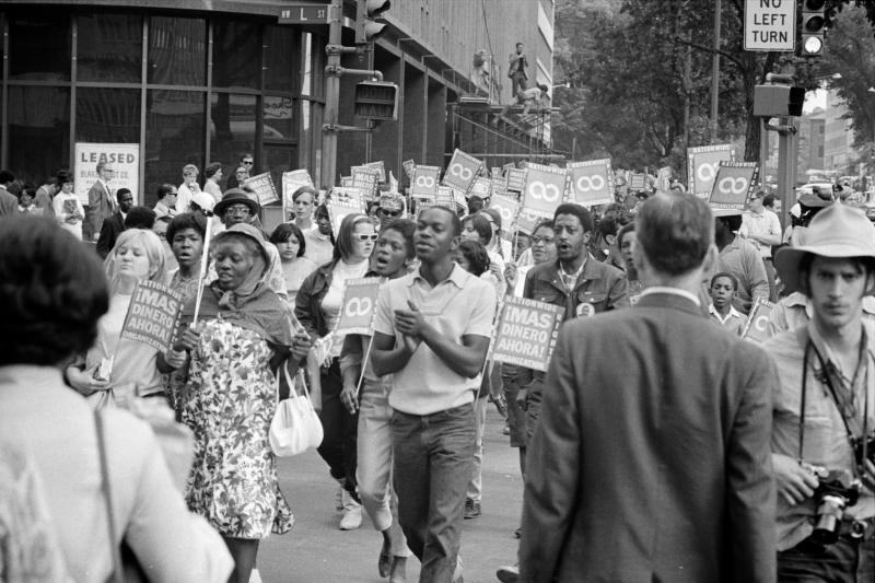 Demonstrators in the Poor People's March.
