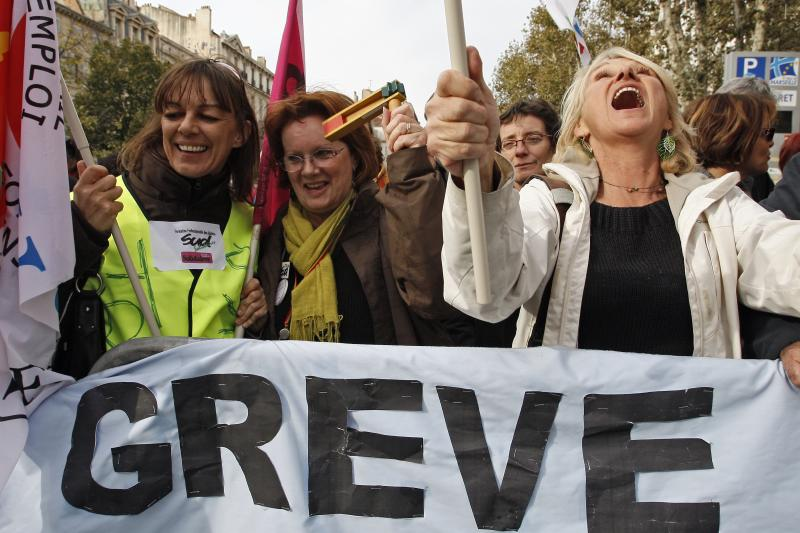 French workers protest against unemployment in Marseille
