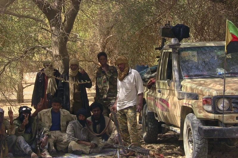 MNLA fighters in the desert near Tabankort, Mali, February 2015. If the Sahel stabilizes in the coming decades, international military assistance will likely not be responsible.