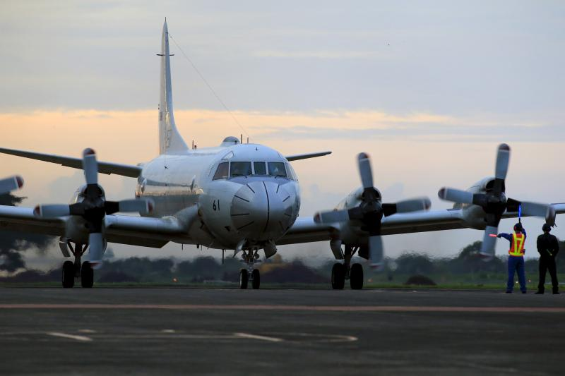 A Japanese P3-C Orion at an airport in Puerto Princesa, Philippines, June 2015. The Philippines' Supreme Court upheld the 2011 Enhanced Defense Cooperation Agreement between Manila and Washington in January.