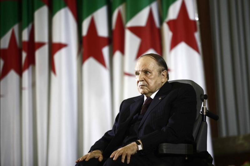 President Abdelaziz Bouteflika looks on during a swearing-in ceremony in Algiers, April 28, 2014.