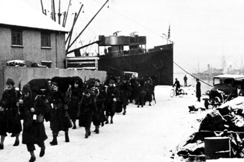 Arrival of US troops in Iceland in January 1942