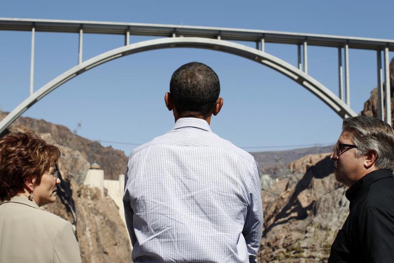 U.S. President Barack Obama at the Hoover Dam in Boulder City, Nevada, October 2012.