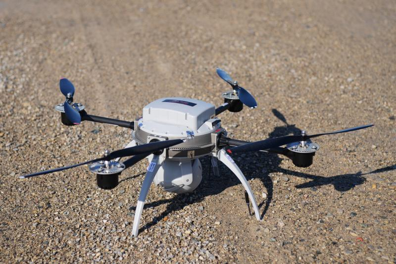 The Aeryon Scout, a small drone developed by start-up Aeryon Labs, in Waterloo, Ontario, March 2014.