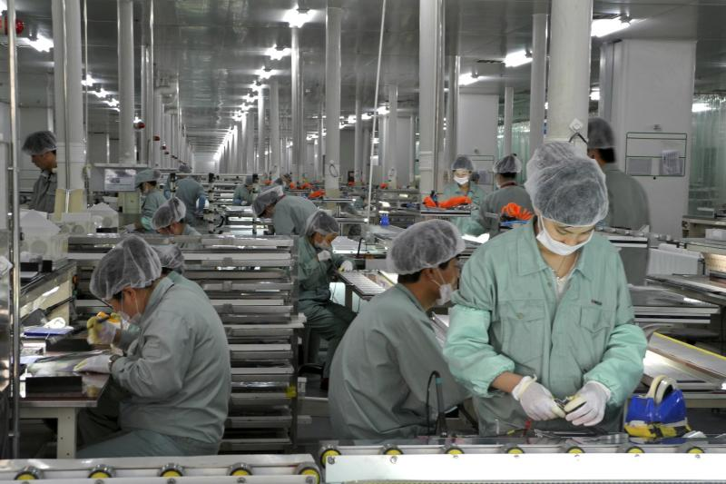 A solar panel production line in Wuxi, China, April 2013. The United States' vision for economic leadership should take into account rising economic powers such as China.