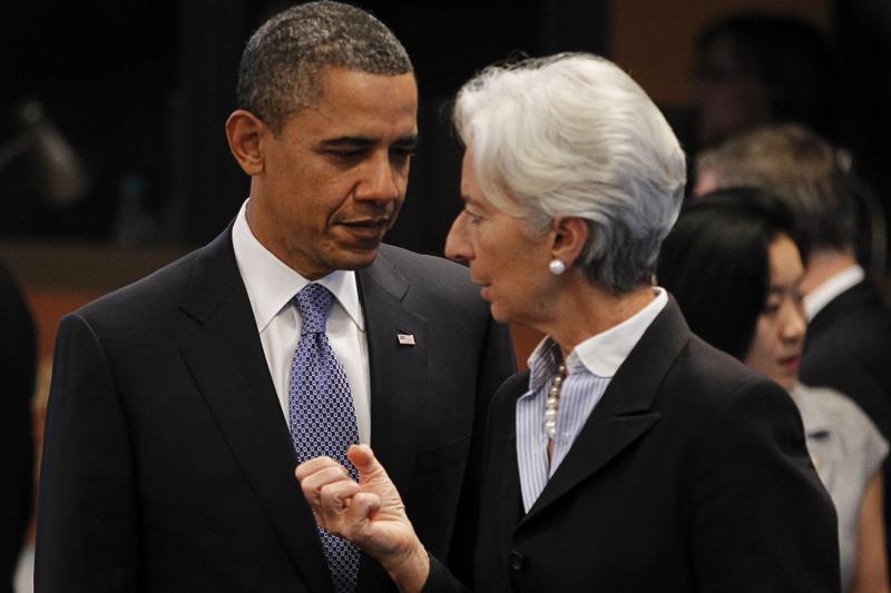 U.S. President Barack Obama with International Monetary Fund Managing Director Christine Lagarde in Honolulu, Hawaii, November 2011. U.S. economic leadership is indispensable, argues Treasury Secretary Jack Lew.