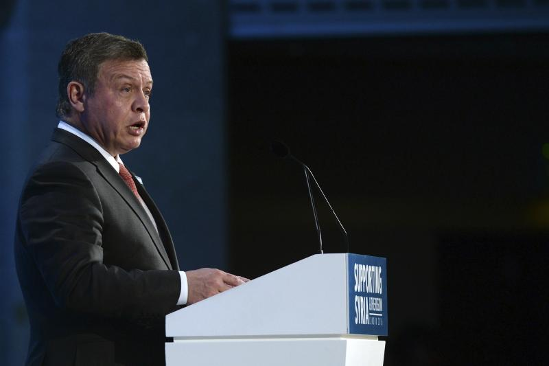 Jordanian King Abdullah at a conference on the humanitarian crisis in Syria, in London, February 2016. The key to addressing the refugee crisis is to move to an approach that focuses on economic development, not just humanitarian assistance.