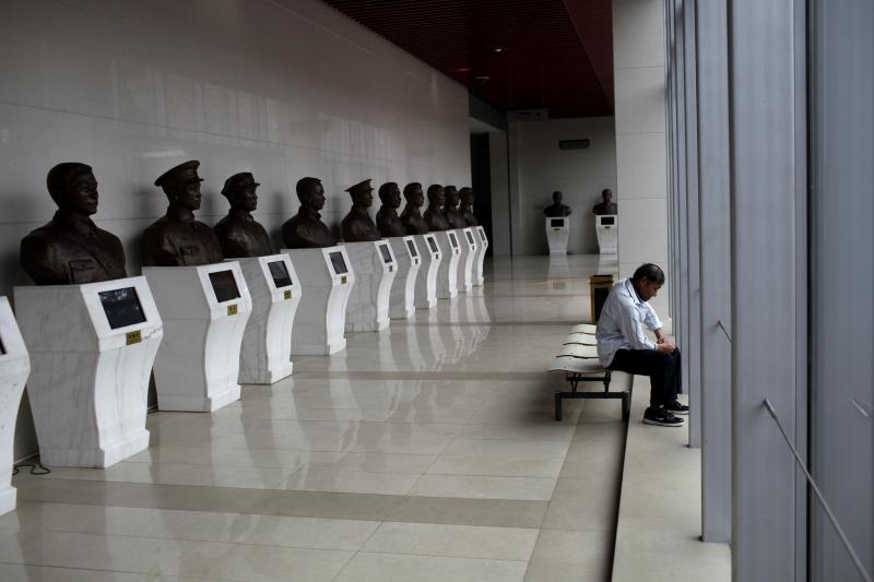 Busts of former Chinese leaders on display at the Revolution Museum in Jiangxi Province, China, September 2012. Xi Jinping has taken some cues from Mao in his consolidation of power.