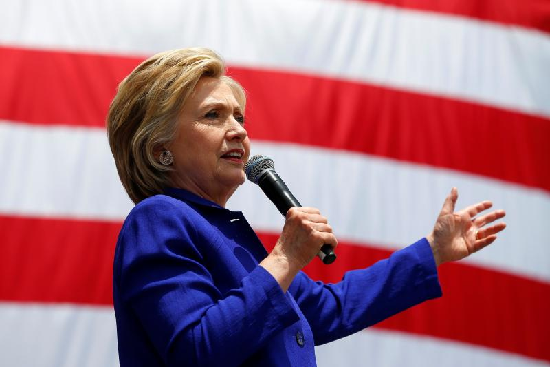 U.S. Democratic presidential candidate Hillary Clinton makes a speech during a campaign stop in Lynwood, California, United States, June 6, 2016.