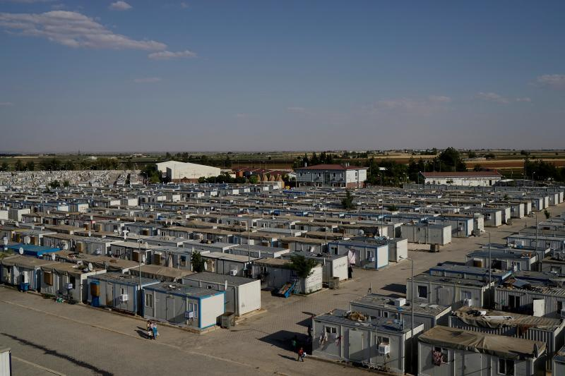 A general view of the Harran refugee camp in the Sanliurfa province, Turkey, June 2016.