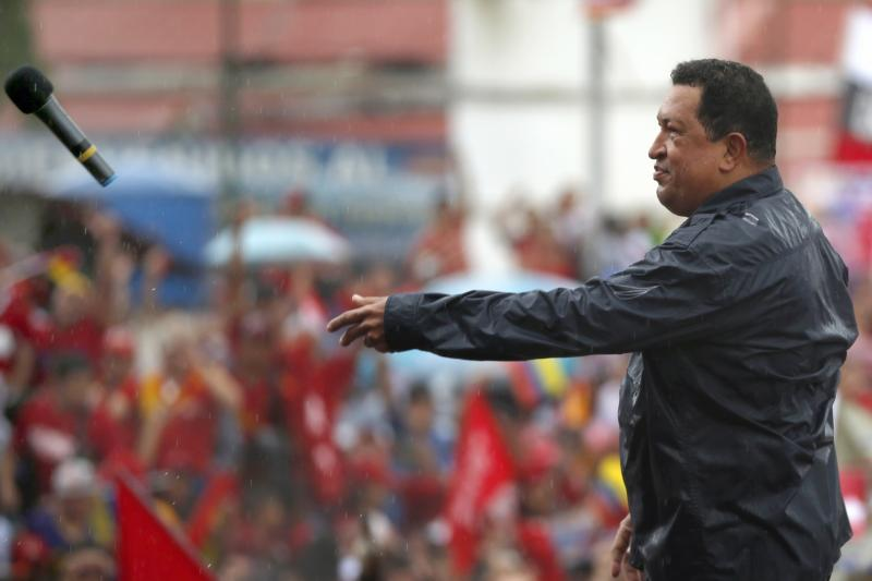 Hugo Chávez at a rally of supporters in Caracas, October 2012.