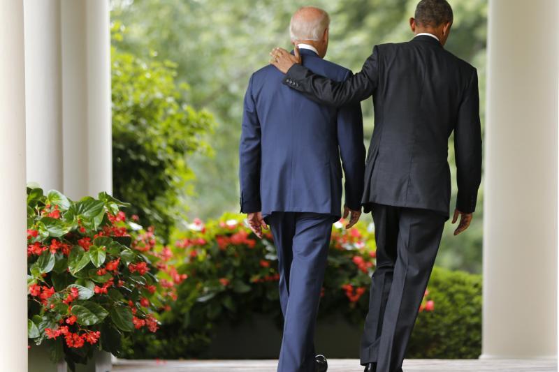 President Obama and Vice-President Biden at the White House, June 2015.