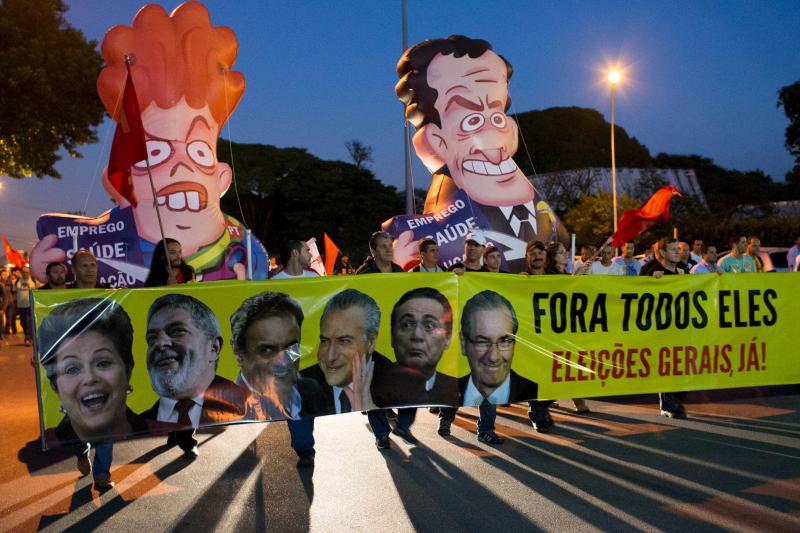 An antigovernment demonstration in Sao Jose dos Campos, March 2016.