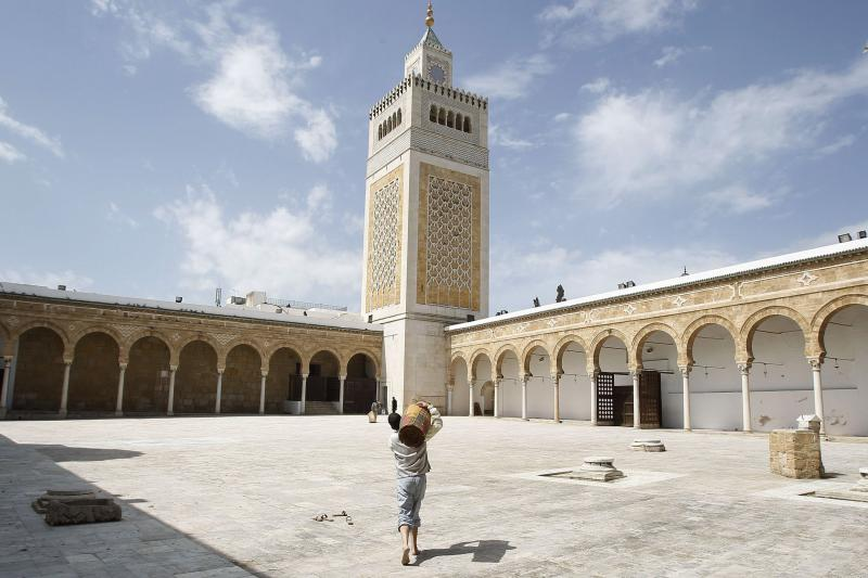 The Zitouna mosque in Tunis, April 2012.