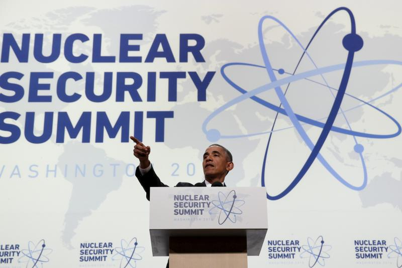 U.S. President Barack Obama fields a question during his press conference at the conclusion of Nuclear Security Summit in Washington April 1, 2016.
