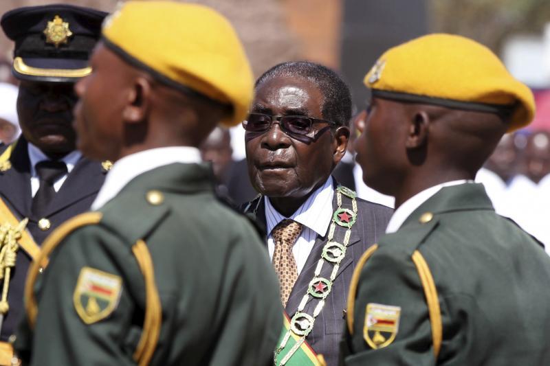 Zimbabwean President Robert Mugabe in Harare, August 2015.