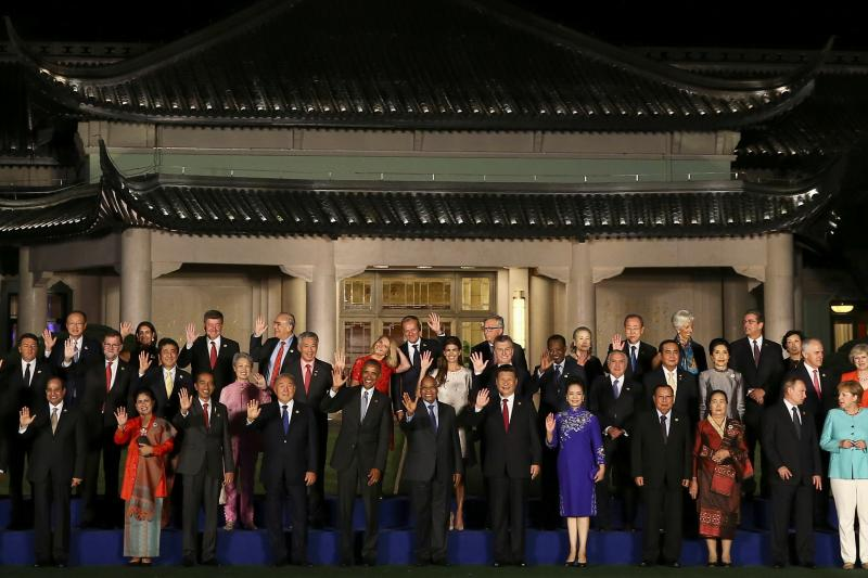 Leaders pose for a family picture during the G20 Summit in Hangzhou, Zhejiang province, China September 4, 2016.