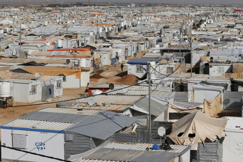 A general view shows Al Zaatari refugee camp in the Jordanian city of Mafraq, near the border with Syria, March 7, 2016.