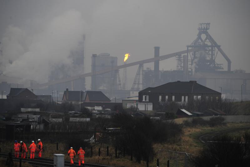 Steelworks in Teesside where major job losses were announced in January 2009.