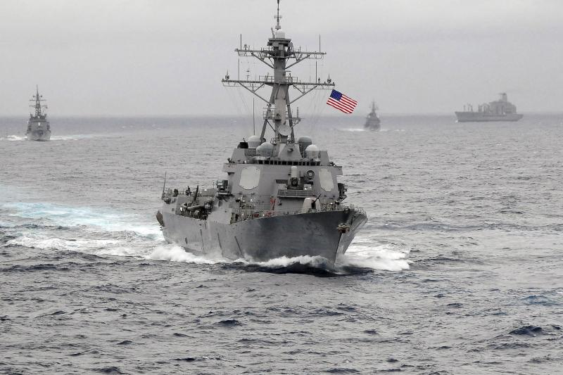 The U.S. Navy guided-missile destroyer USS Lassen in the Pacific Ocean, October 2015.
