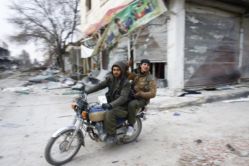 YPG fighters in Kobani, Syria, January 2015.