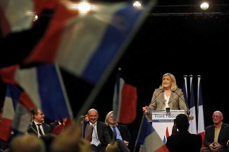 Marine Le Pen at a rally near Tours, France, March 2015.