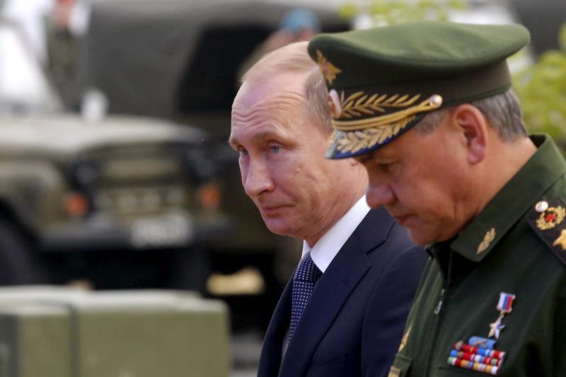 Russian President Vladimir Putin and Defense Minister Sergei Shoigu, June 2015.