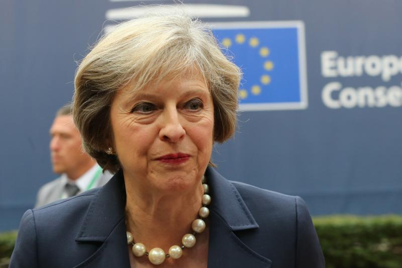 Goodbye to all that: Theresa May at an EU summit in Brussels, October 2016.