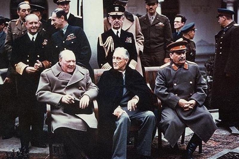 Churchill, Roosevelt, and Stalin and the Yalta Conference, 1945