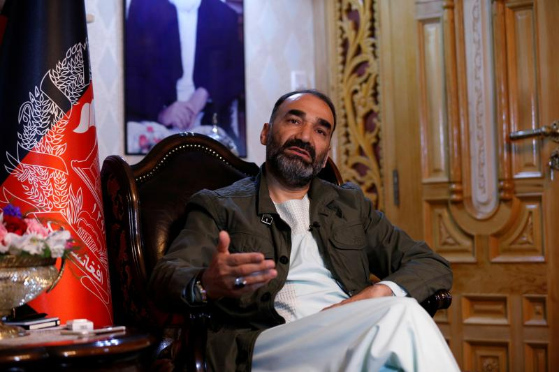 Atta Mohammad Noor, governor of the Balkh province, speaks during an interview in Kabul, Afghanistan, May 2016.