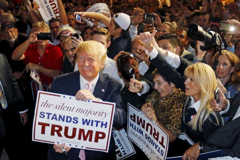 Trump at a rally in Doral, Florida, October 2015