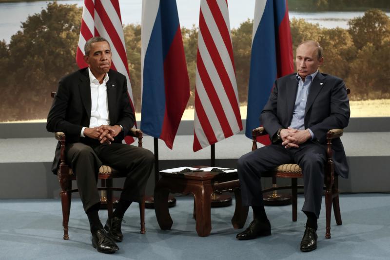 Obama and Putin at the G8 Summit in Enniskillen, Northern Ireland June, 2013