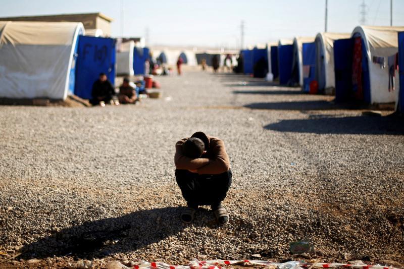 A man who fled Mosul in Khazer refugee camp, Iraq, November 2016.