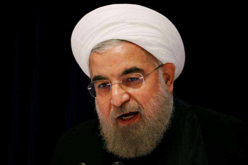Iranian President Hassan Rouhani speaks at a news conference near the United Nations General Assembly in New York, September 2016.