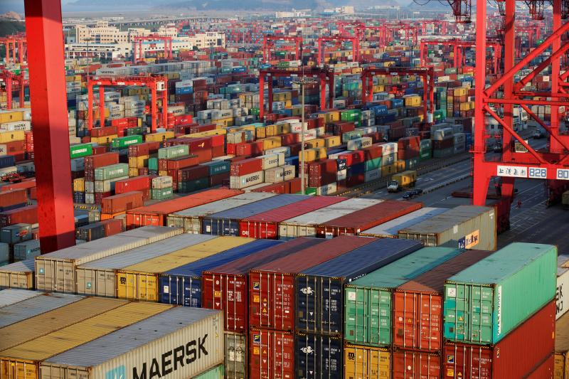 Container boxes are seen at the Yangshan Deep Water Port, part of the Shanghai Free Trade Zone, in Shanghai, China September 24, 2016. Picture taken September 24, 2016.